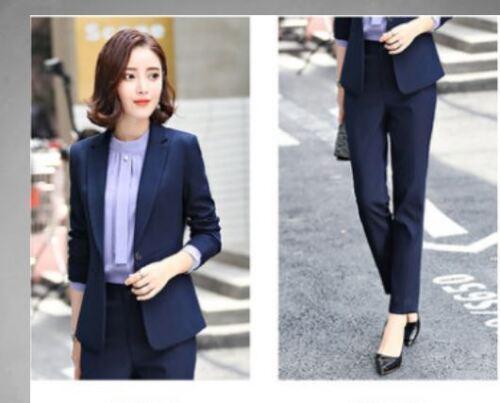 e2ca1ff62f7c Blu Pantalone Donna Completo 7146 A Tailleur E Manica Giacca Lunga Cod Slim  qSE6nxR