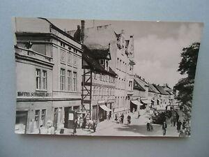 Ansichtskarte Salzwedel 1961 Straße der Freundschaft Hotel Schwarzer Adler - Eggenstein-Leopoldshafen, Deutschland - Ansichtskarte Salzwedel 1961 Straße der Freundschaft Hotel Schwarzer Adler - Eggenstein-Leopoldshafen, Deutschland