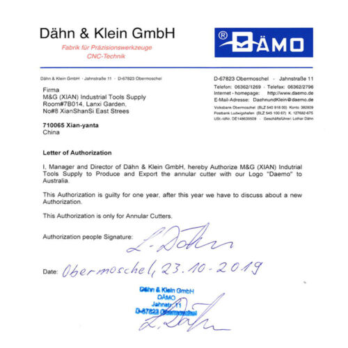 DӒMO HSSCobalt Annular Cutter 30mm Cut Depth Rotabroach Slugger Magnetic Germany