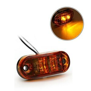 lot de 2 feux led 12v 24v de gabarit orange camion remorque caravane ebay. Black Bedroom Furniture Sets. Home Design Ideas