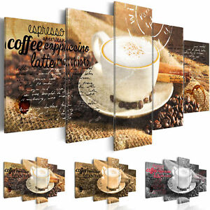 wandbilder xxl kaffee caffee coffee leinwand bild kunstdruck 200x100cm 030107 20 ebay. Black Bedroom Furniture Sets. Home Design Ideas