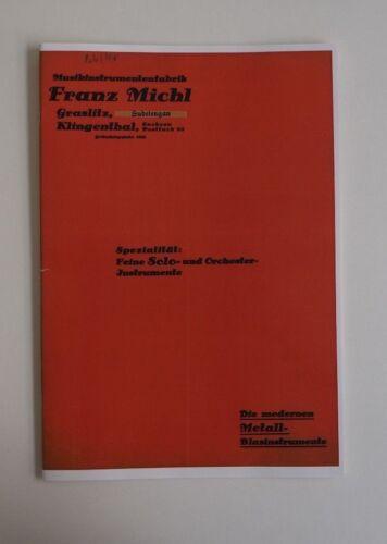 Reprint Katalog Franz Michl Graslitz