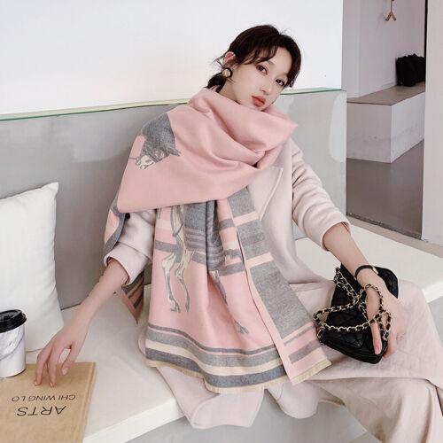Fashion Winter Long Scarf Imitate Cashmere Pashmina Horse Kerchief Shawl Hijab