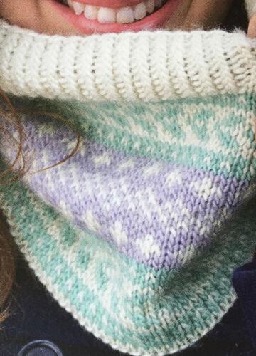 Knitting Pattern Femmes Fair Isle à motifs Cowl Écharpe Côtelé Accessoire DK