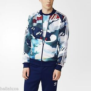 Details about Adidas SHOE CHAOS AOP Track sweat shirt Jacket superstar top firebird~Mens sz XL