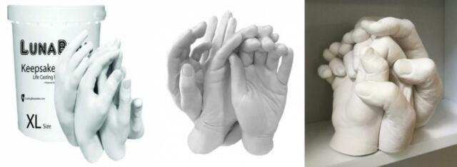 REFILL  POWDERS -XL- Group Family Casting Kit for Luna Bean KEEPSAKE HANDS
