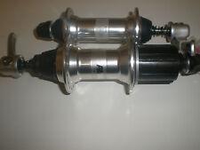 Shimano Deore XT M738/M737 rim brake MTB hubs silver 100/135mm OLD 8/9/10 speed