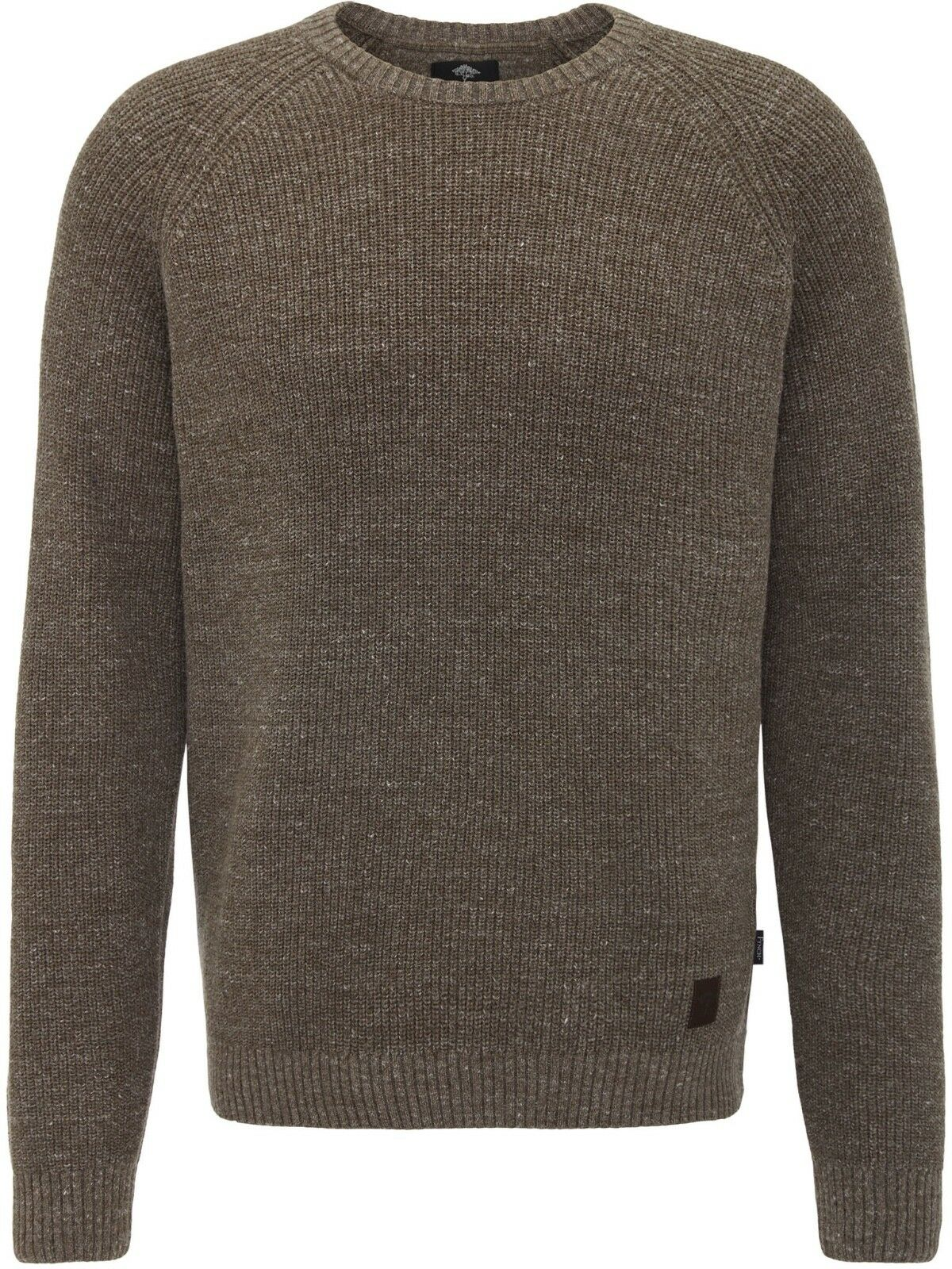 FYNCH HATTON® Chunky Cotton/Merino Jumper Clay - Large New AW18