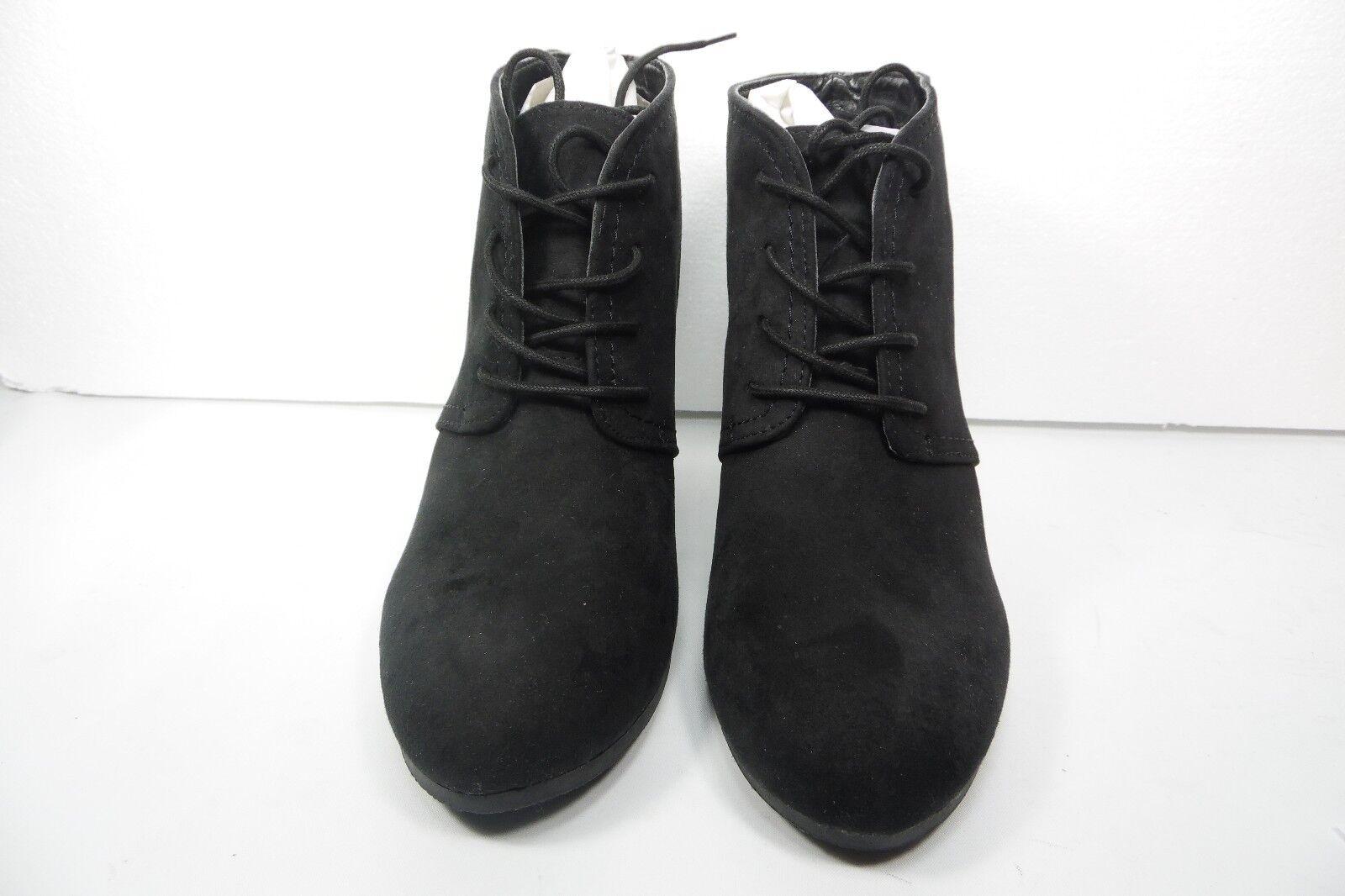 Arizona Jean Co.  Lacie Wedge Women's Bootie  Suede Black Size 10 M