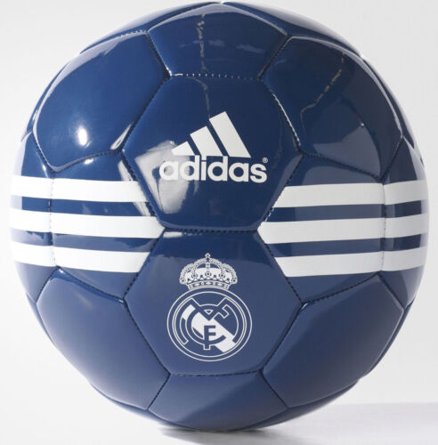 Adidas Real Madrid Crest 3Stripes Football Ball Size 5 201617 Navy & White