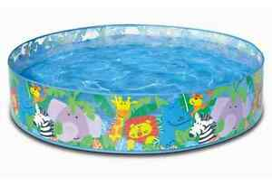 Kids childrens 6 ft rigid snapset garden party outdoor for Rigid paddling pool