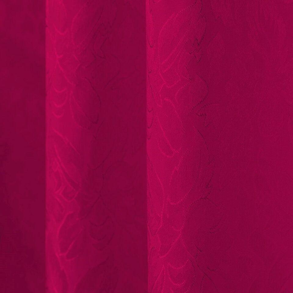 2 Gardiner med løkker rød