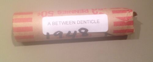 - A Between Denticle Pennies 50 coins RARE 1948 Coin Roll