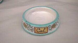 Ciotola per animali in ceramica stile vietri con scritta