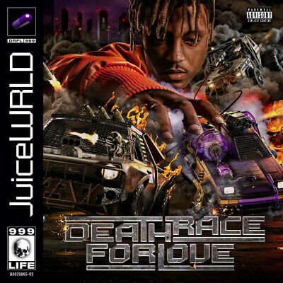 N810 Juice WRLD Death Race For Love Rapper Cover 2019 Album Poster 24x24 12x12