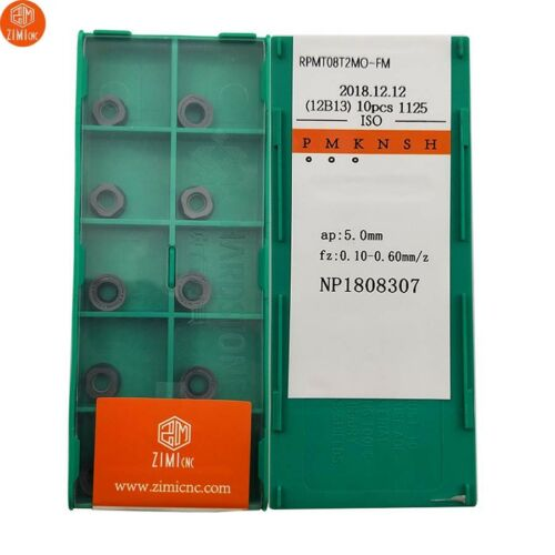 RPMT08T2MO-FM CNC TOOL Carbide Milling insert For stainless steel and steel 10P