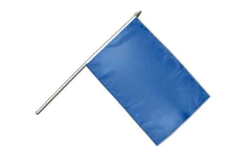 Einfarbig Blau Stockflagge Flaggen Fahnen Stockfahne 30x45cm