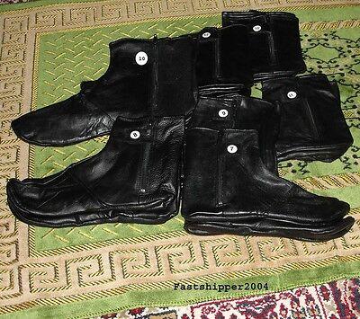 100% Genuine Leather Socks Khuff  Muslim Islam Masah Wudhu Pray Shoes Size: 7-13