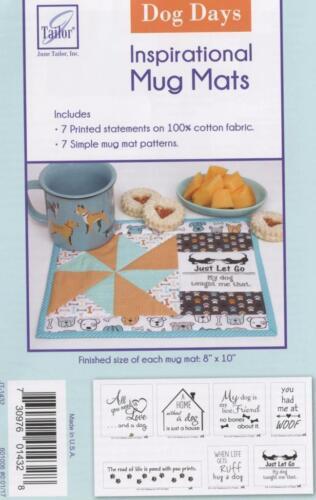 """Dog Days Kit   ~  JT-1432 ~ Quilt as you go ~ Inspirational Mug Mats ~ 8/"""" x 10 /"""""""