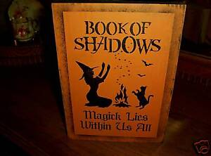 BOOK-OF-SHADOWS-Magick-Lies-Within-wood-sign-halloween