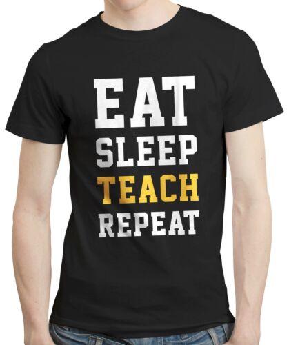 Eat Sleep Teach Repeat Teacher Thank You Term Gift Birthday T-shirt Tshirt Tee