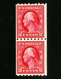 US-Stamps-411-F-VF-Pair-OG-NH