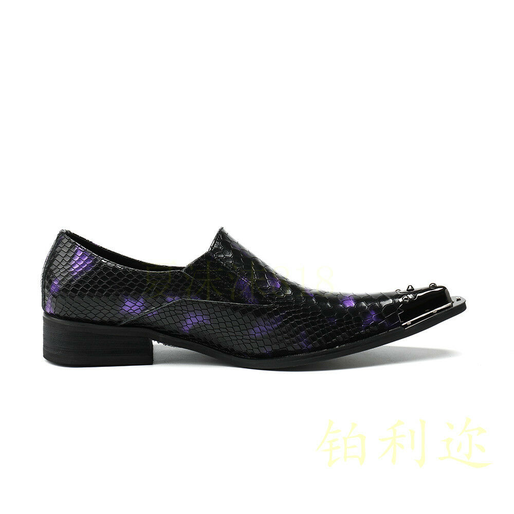Fashion Men's Pointy Toe Leather Leather Leather shoes Dress Formal Business Nightclub shoes 4ac8b4