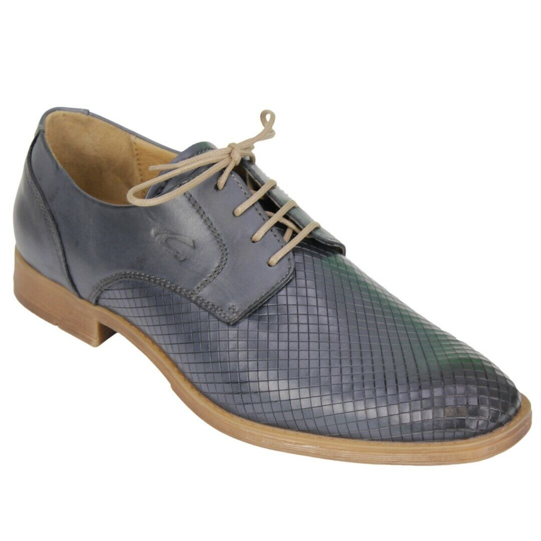 Camel Active Men's shoes Lace up bluee Textured 474.13 08 Boavista