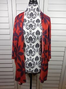 Lularoe-Lindsay-Kimono-Cardigan-Women-small-Orange-Red