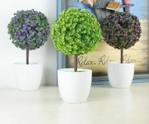 Home Office Decorative Artificial Plants Trees Potted Plant Potted Pot Decor Ebay
