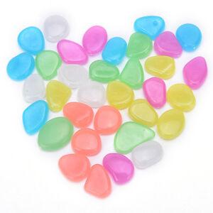 100Pcs-Glow-In-The-Dark-Stones-Pebbles-Rock-Aquarium-FishTank-Garden-Walk-LT