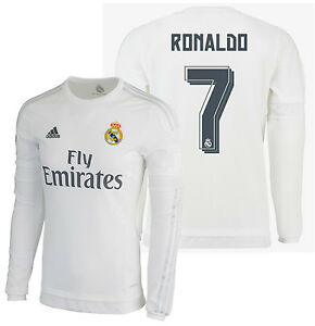 d36c5cfb57943 ADIDAS CRISTIANO RONALDO REAL MADRID LONG SLEEVE HOME JERSEY 2015 16 ...