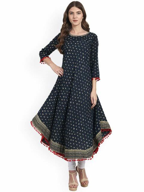Boho Summer Dress Indian Tops Tunic Bohemian Hippie Gypsy Cotton Casual Kurtis