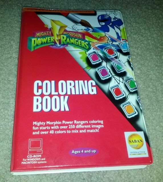 Mighty Morphin Power Rangers Coloring Book (Windows/Mac, 1995) For Sale  Online EBay