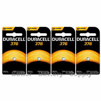 4 X 376 Duracell Button Cell Batteries (377, 376, Ag4, Sr6265w, Sr66, G4, Ba)
