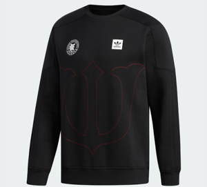 Skateboarding Crewneck Evisen Adidas Escarlata Negro Sudadera qT1Td