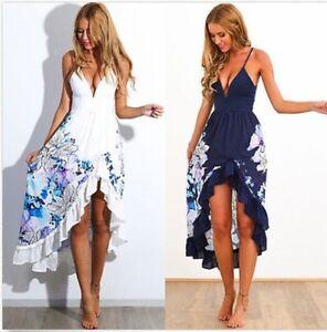 86d7650974 Sexy Women Summer Boho Long Maxi Evening Party Dress Beach Dresses ...