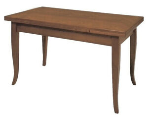 Dettagli su Tavolo rettangolare allungabile in legno da cucina classico  Noce Arte Povera