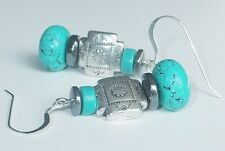 Turquoise Cross Earrings Dangle, Cowgirl, Crosses, Southwestern, Faith, Religion