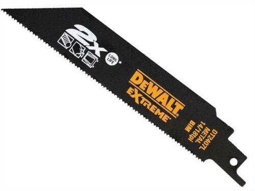 x5 Dewalt DT2407L 2X EXTREME Metal Reciprocating Saw Blades 14-18 TPI