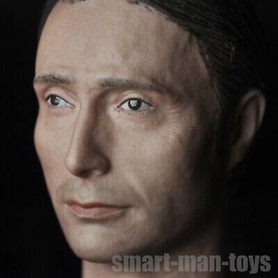 1//6 scale Mads Mikkelsen Hannibal Head Sculpt fit 12/'/' Figure Body