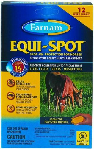 Farnam Equi-Spot Spot On Protection For Horses 12-Week Supply With 6 Applicatio