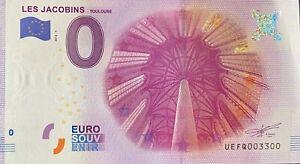BILLET-0-EURO-LES-JACOBINS-TOULOUSE-1-FRANCE-2016-NUMERO-3300