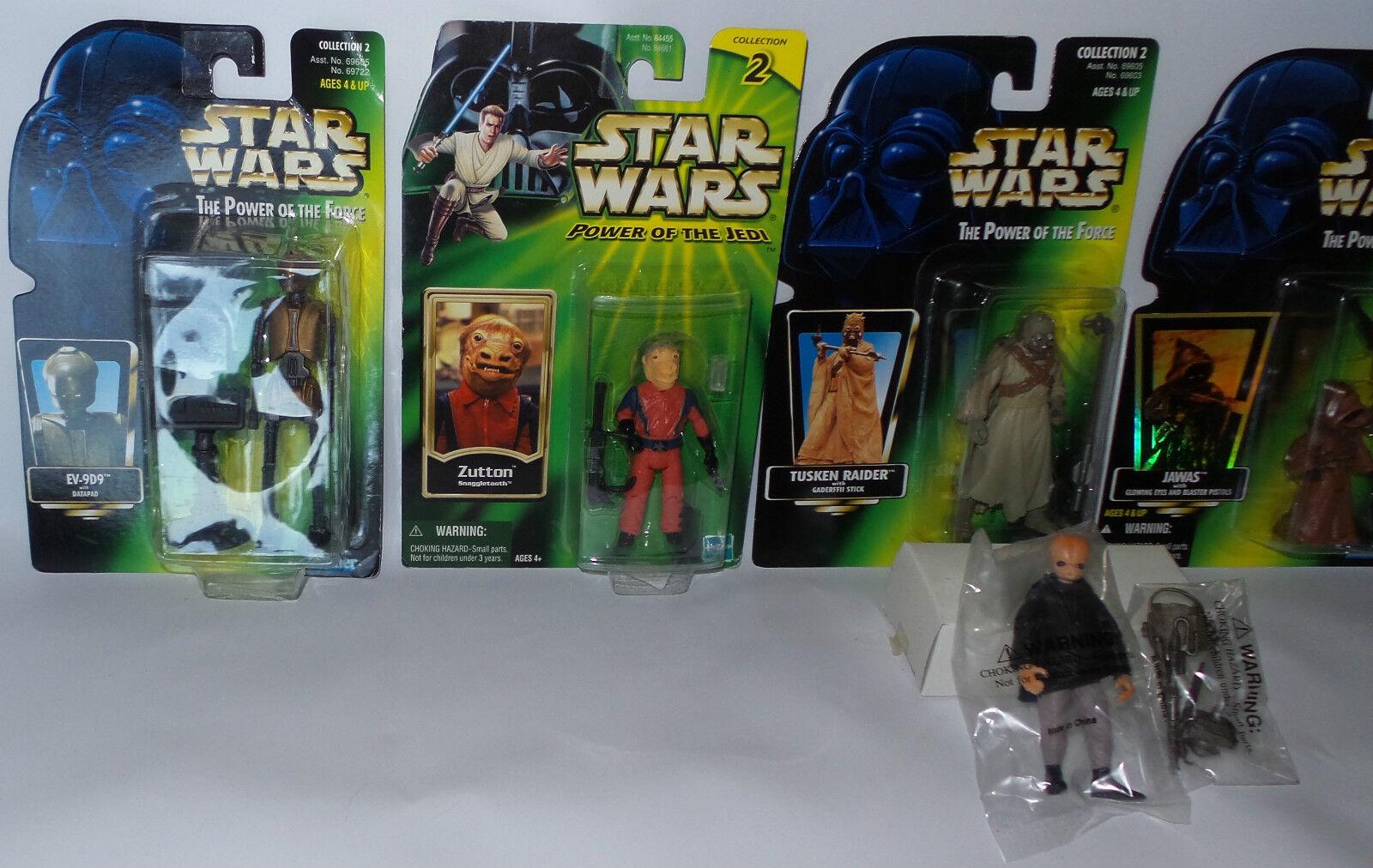 STAR WARS : JAWA'S, (F) TUSKEN RAIDER, ASP-7, EV-9D9, FIGRIN D'AN, ZUTTON (F) JAWA'S, (TK) 6de1f5