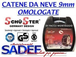 Catene da Neve Power Grip 9mm Omologate Gr.80 Gomme 195//65r15 Peugeot 2008
