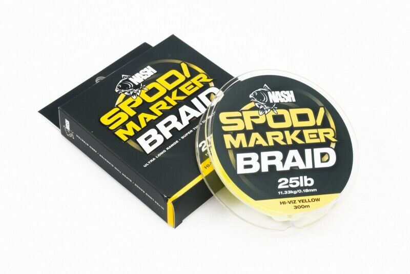 Nash Spod and Marker Braid 25lb 300m Line ALL SIZES