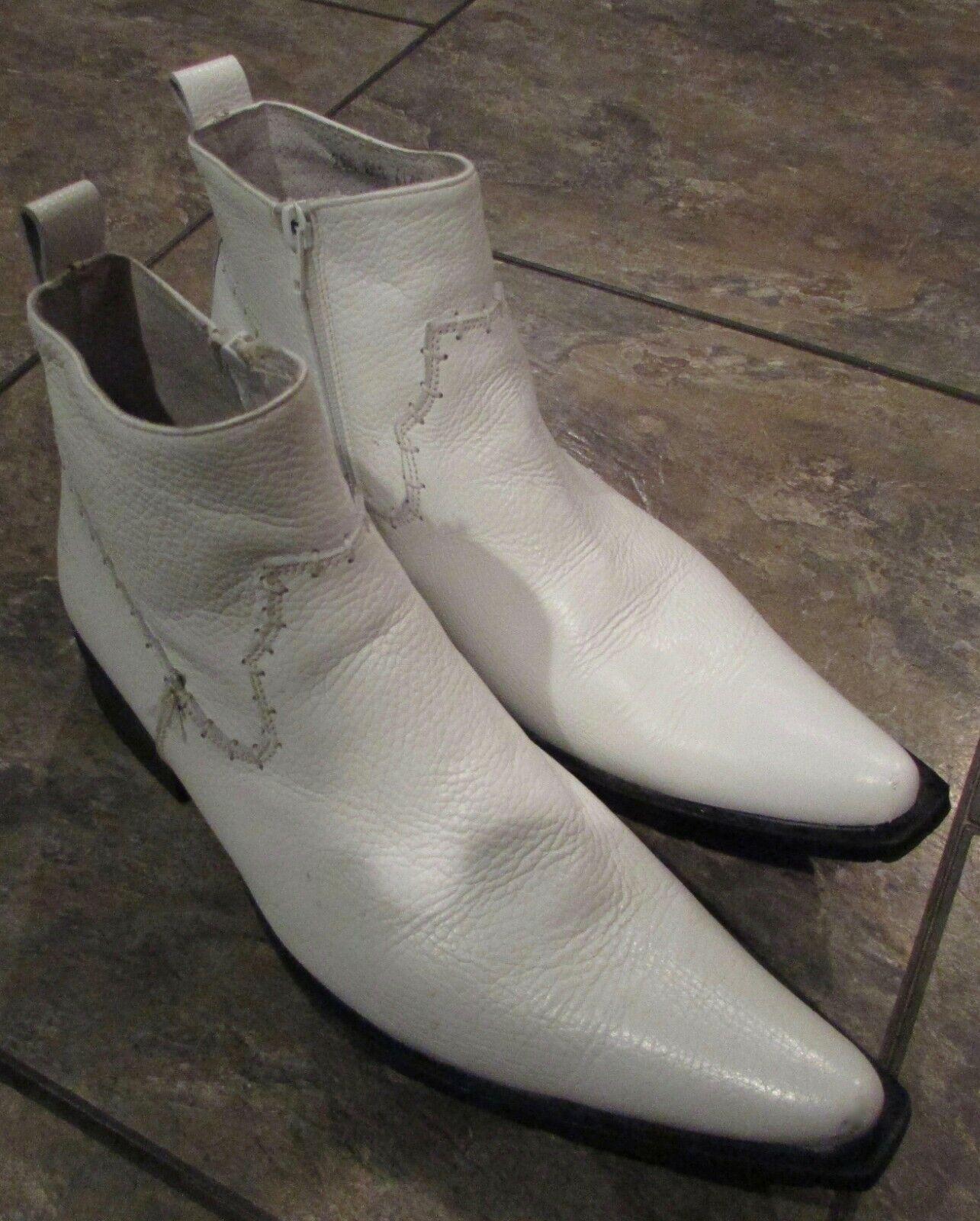 Christian Danner Weiß Herren Spitz Schuhe Made in Mexico Größe 29.5 US 11.5