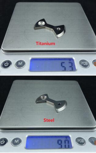 J/&L Titanium//Ti Pedal Plate//Bow tie* 4pc fit SpeedPlay Zero/&Light Action-4 color