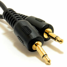 0.5m Mono 3.5mm Jack Plug to Mono 3.5mm Jack Plug Cable Lead 50cm GOLD [007415]