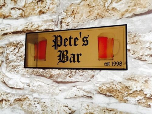 METAL PERSONALISED BAR ANY NAME SIGN XMAS GARDEN PARTY PUB HOME BAR DAD